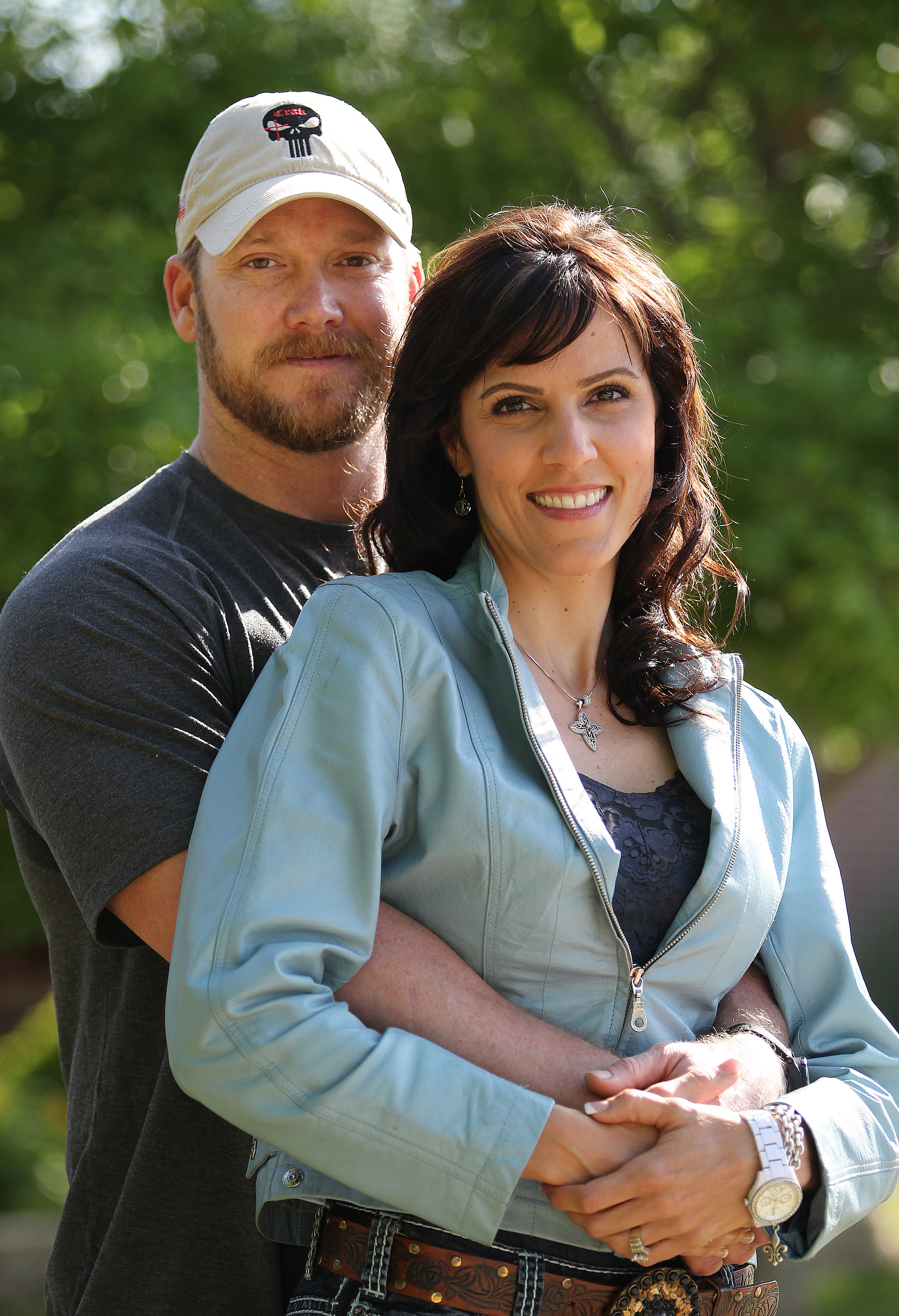 Chris Kyle, a retired Navy SEAL and bestselling author of the book  American Sniper: The Autobiography of the Most Lethal Sniper in U.S. Military History,  is seen with his wife, Taya, April 6, 2012.