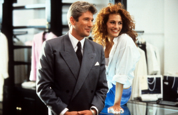Richard Gere and Julia Roberts in a scene from the film Pretty Woman