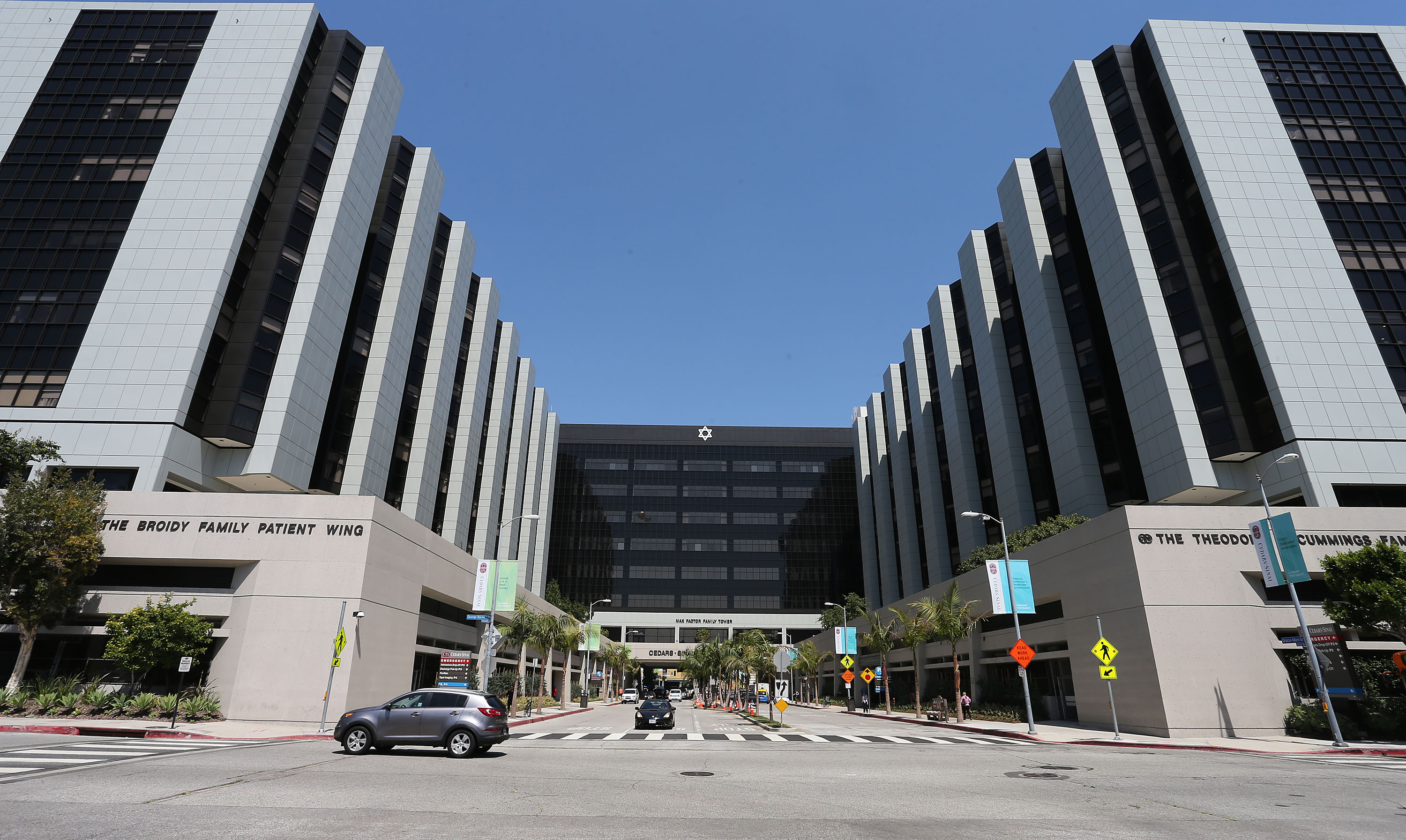 General View of Cedars-Sinai Hospital on June 17, 2013 in Los Angeles, California.