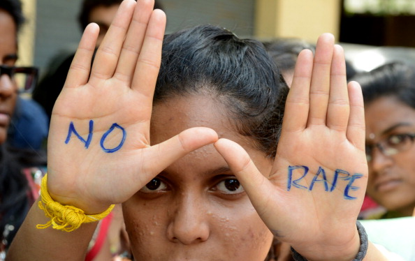 Indian students of Saint Joseph Degree college participate in an anti-rape protest in Hyderabad, India, on Sept. 13, 2013