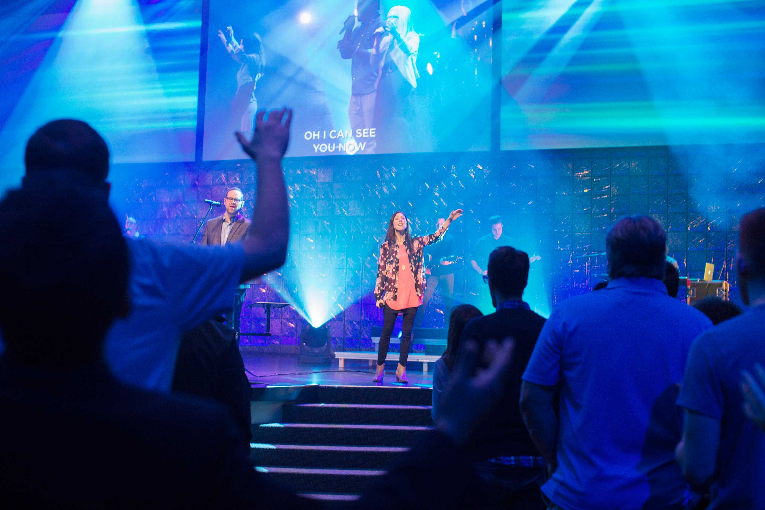 Services at Church of the Highlands, a  mega-church, in Birmingham, Ala. on March 22, 2015.                                                                                                         In a region with plenty of large houses of worship, Church of the Highlands -- one of the fastest-growing churches in America -- may be the largest. Sunday worship service at Grants Mill—headquarters for a dozen campuses—averages over 3,500 people, mostly couples in their 30s with young kids. That number is up from 600 in 2001, and there are some 31,000 weekly worshippers across the 12 sites.