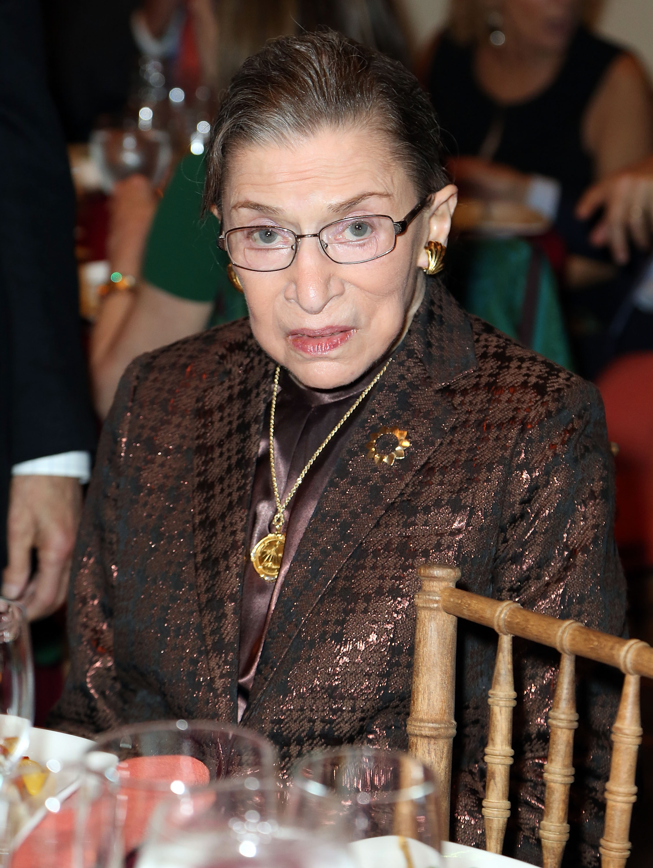 Honorable Ruth Bader Ginsburg, Associate Justice of Supreme Court of the United States, attends Richard Tucker Music Foundation's 38th annual gala at Avery Fisher Hall, Lincoln Center on November 17, 2013 in New York City.