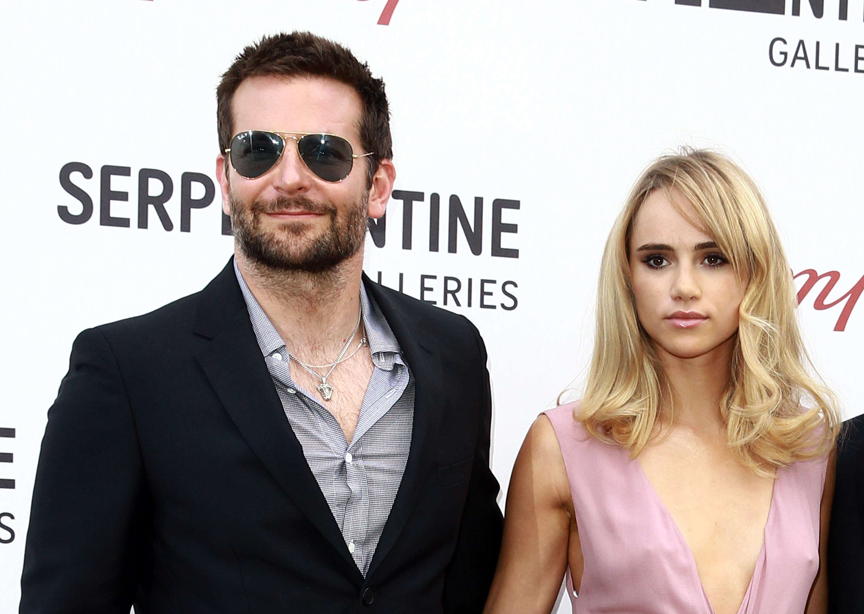 Bradley Cooper and Suki Waterhouse summer party on July 1, 2014 in London, England.