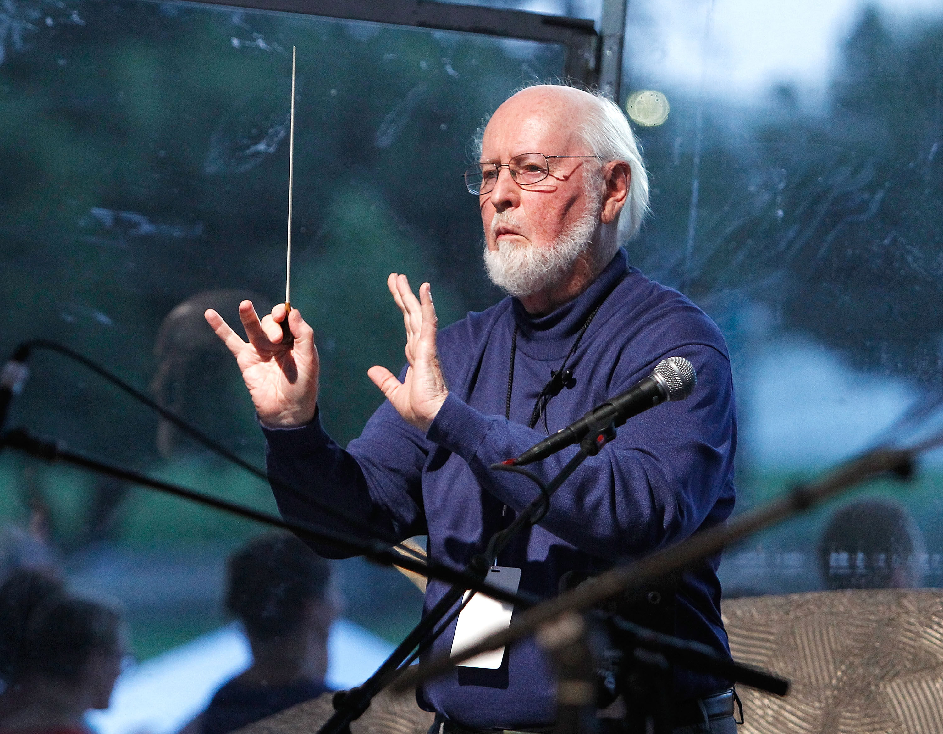 Conductor John Williams debuts his new version of the The Star-Spangled Banner