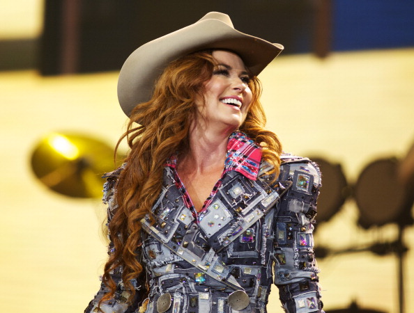 Shania Twain performs at the Calgary Stampede at Scotiabank Saddledome in Calgary on July 10, 2014