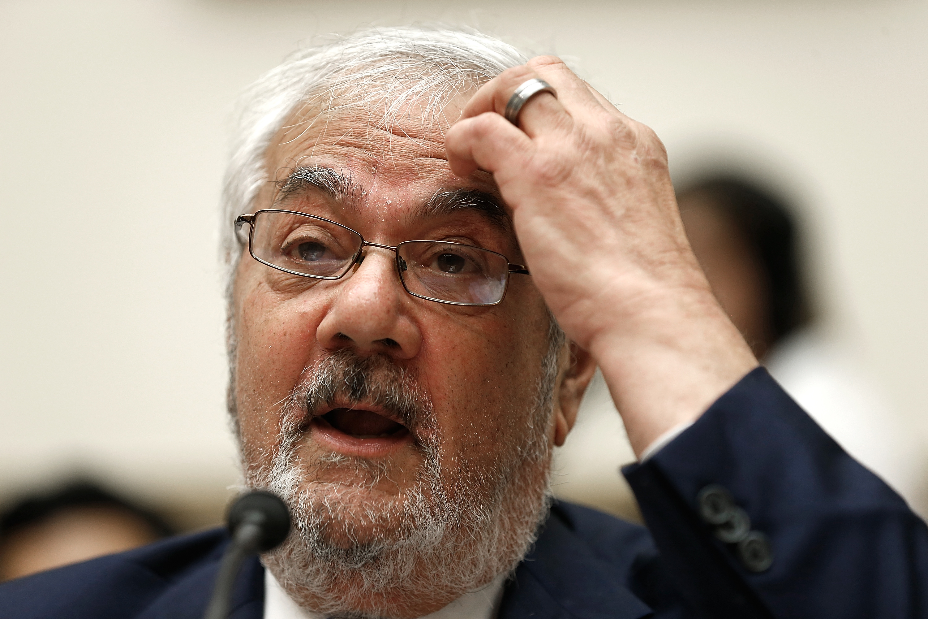 Former House Financial Services Committee chairman Barney Frank (D-MA) testifies before the House Financial Services Committee July 23, 2014 on Capitol Hill in Washington, DC.