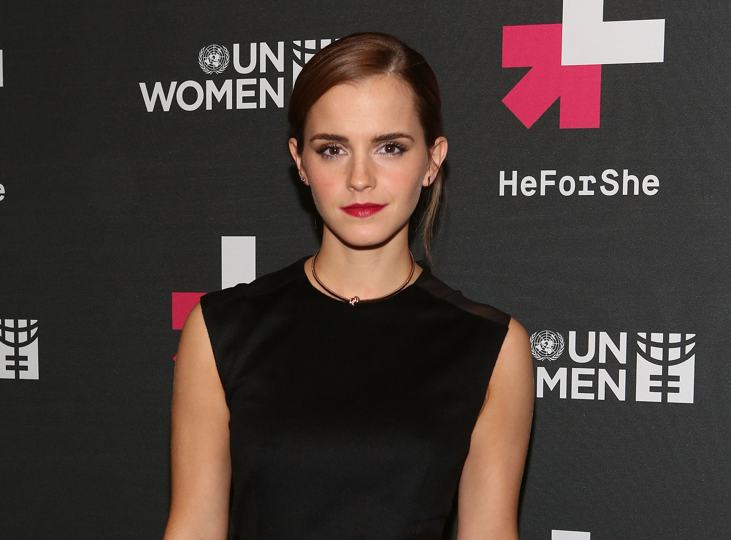 Actress and U.N. Women Goodwill Ambassador Emma Watson at the UN Women's  HeForShe  VIP After Party in New York City, Sept. 20, 2014. The actress held a live Q&A session via Facebook on International Women's Day.