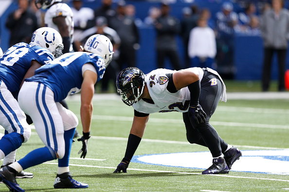 Haloti Ngata in action against the Indianapolis Colts at Lucas Oil Stadium in Indianapolis on Oct. 5, 2014