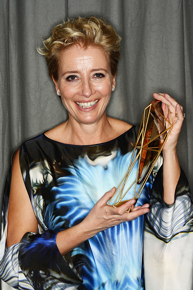 Emma Thompson, winner of the Richard Harris Award poses at an after party for the Moet British Independent Film Awards 2014 in London, England on Dec. 7, 2014.