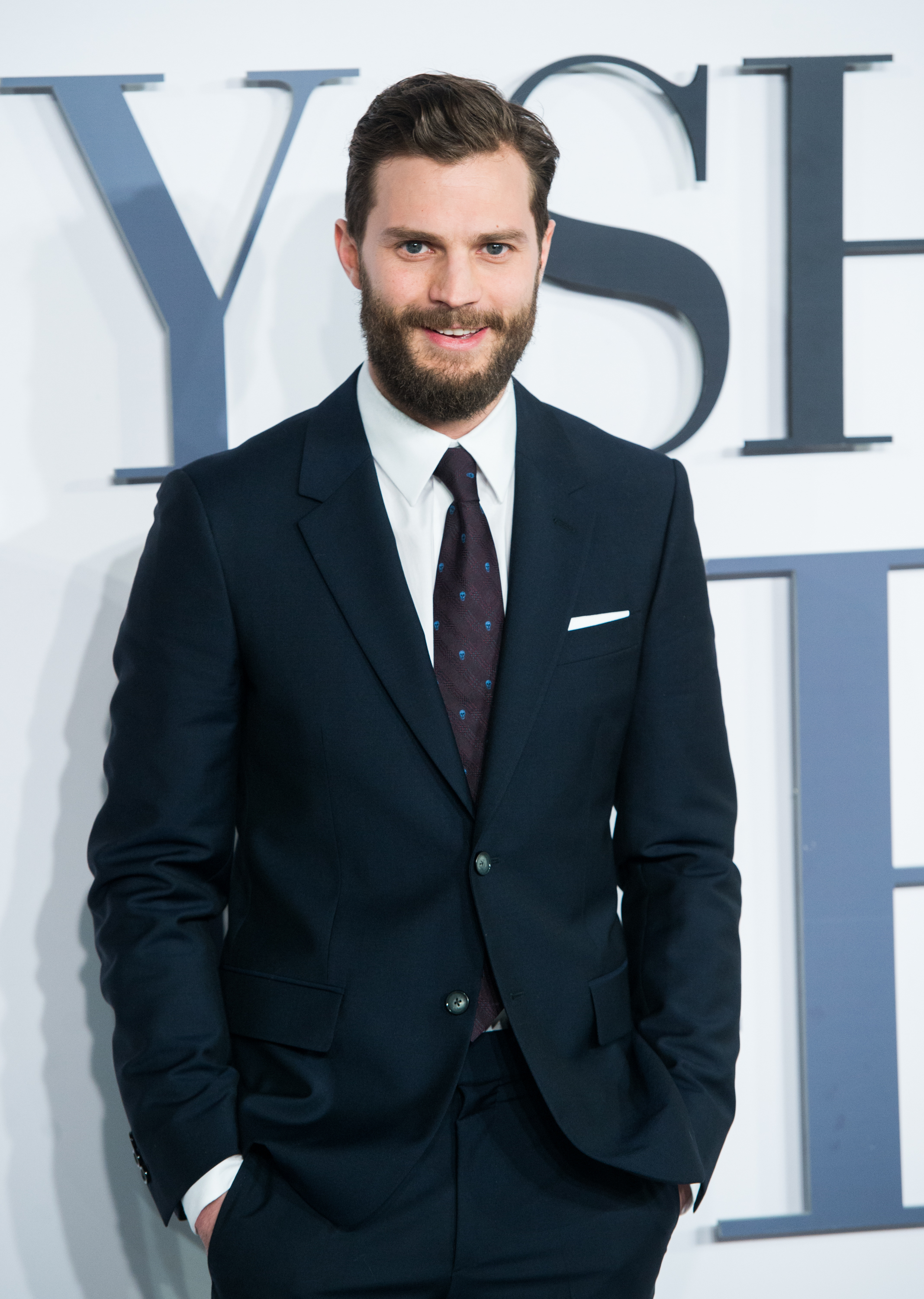 Jamie Dornan attends the UK Premiere of  Fifty Shades Of Grey  at Odeon Leicester Square on Feb 12, 2015 in London.