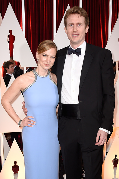 From left: Producers Helen Estabrook and Couper Samuelson attend the 87th Annual Academy Awards in Hollywood, Calif. on Feb. 22, 2015.