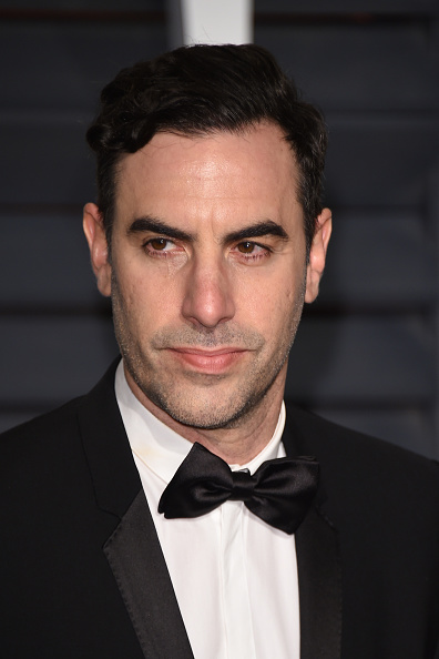 Sacha Baron Cohen attends 2015 Vanity Fair Oscar Party Hosted in Beverly Hills, Calif. on Feb. 22, 2015.