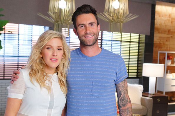 Ellie Goulding and Adam Levine