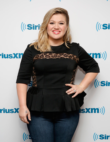 Kelly Clarkson visits SiriusXM Studio in New York City on March 3, 2015.