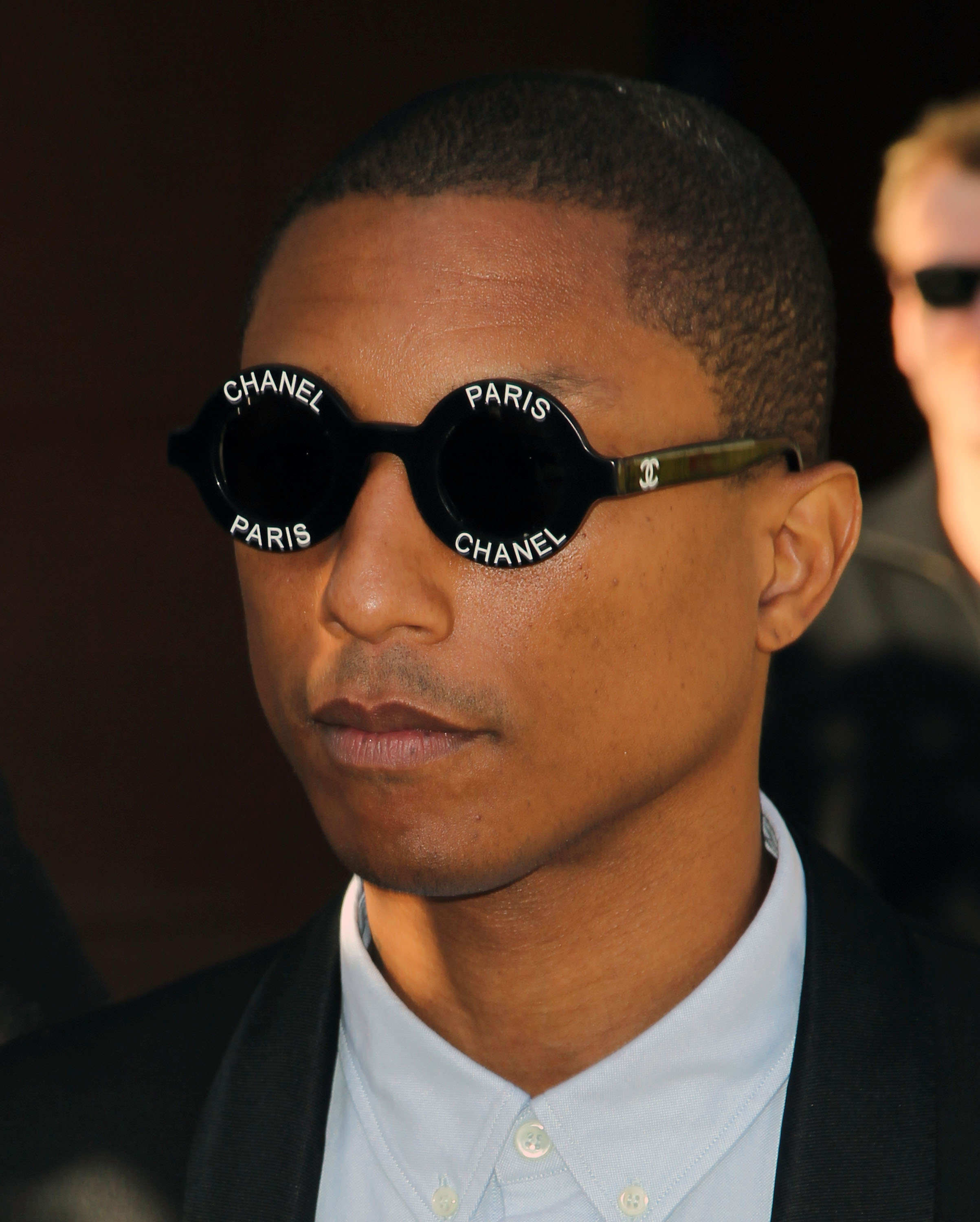 Musician Pharrell Williams is seen outside the Roybal Federal Building on March 4, 2015 in Los Angeles.