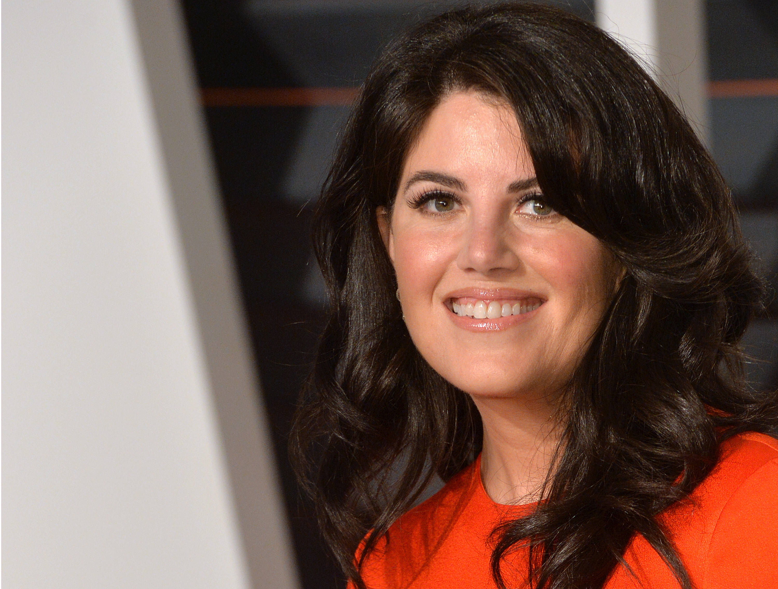 Monica Lewinsky arrives at the 2015 Vanity Fair Oscar Party Hosted By Graydon Carter at Wallis Annenberg Center for the Performing Arts on February 22, 2015 in Beverly Hills, California.  (Anthony Harvey--Getty Images)