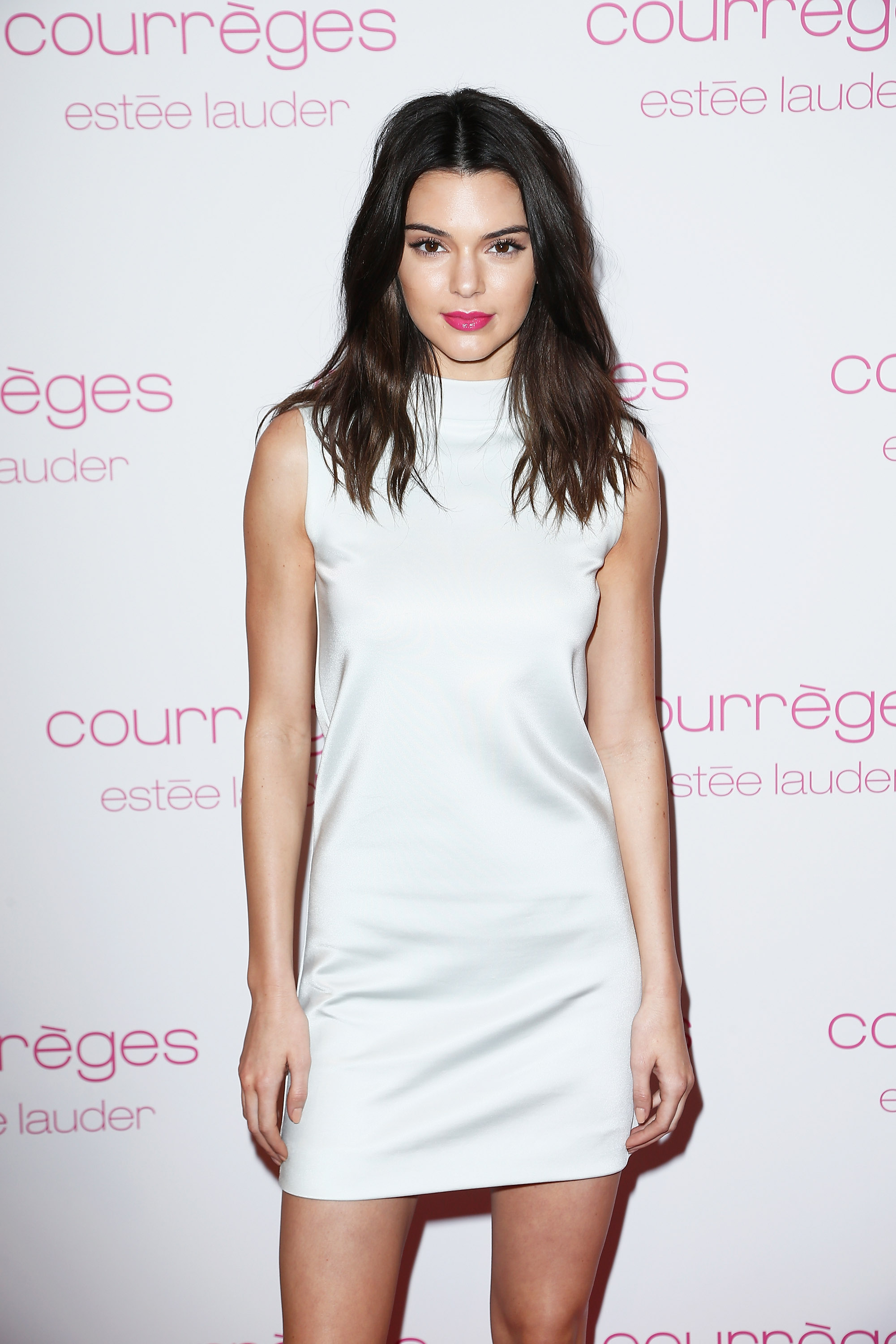 Kendall Jenner attends Courreges and Estee Lauder Dinner Party during Paris Fashion Week Womenswear Fall/Winter 2015/2016 on March 7, 2015 in Paris, France.