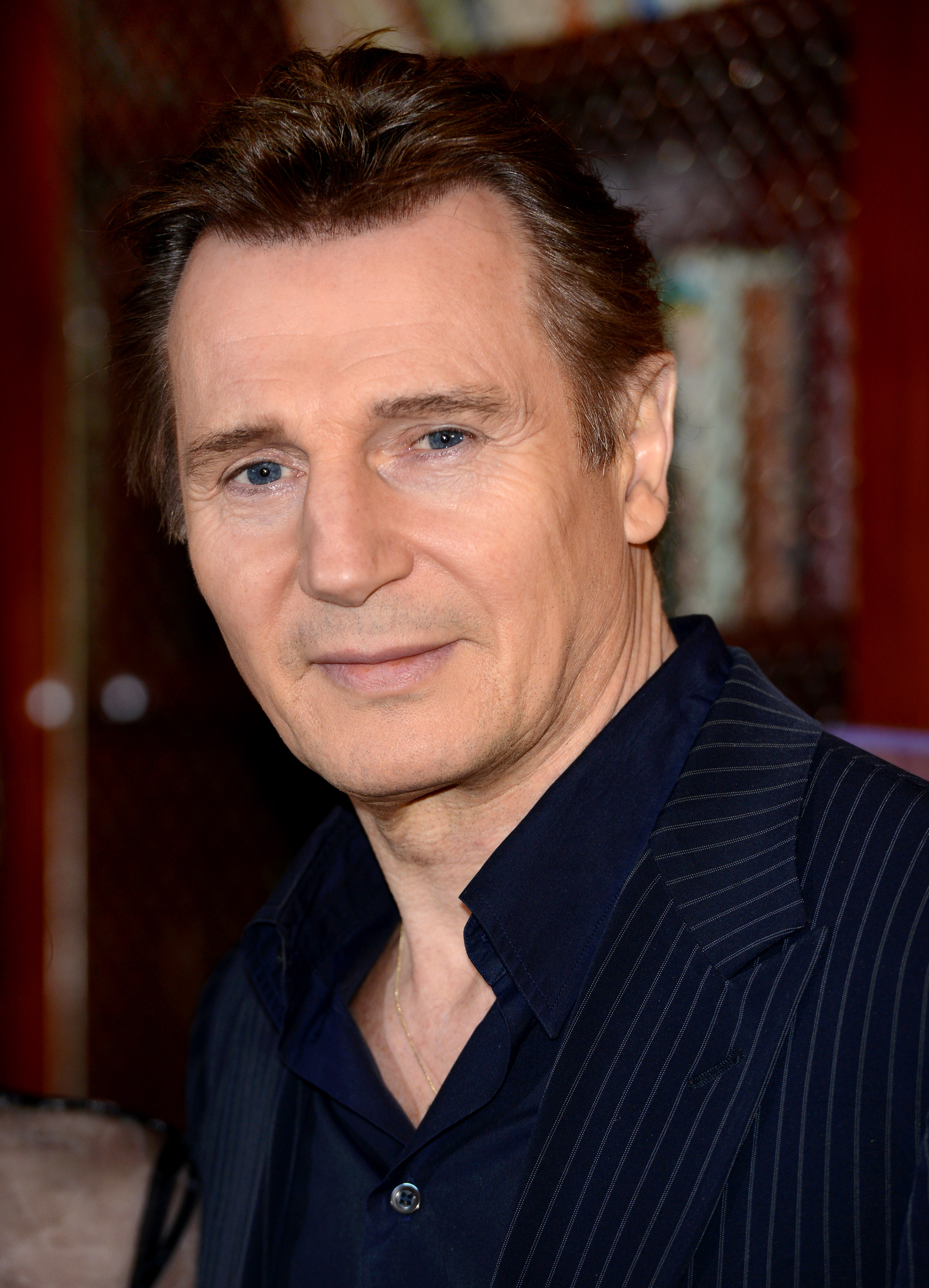 Liam Neeson attends a photocall for the film  Non Stop  at The Dorchester on January 30, 2014 in London, England.