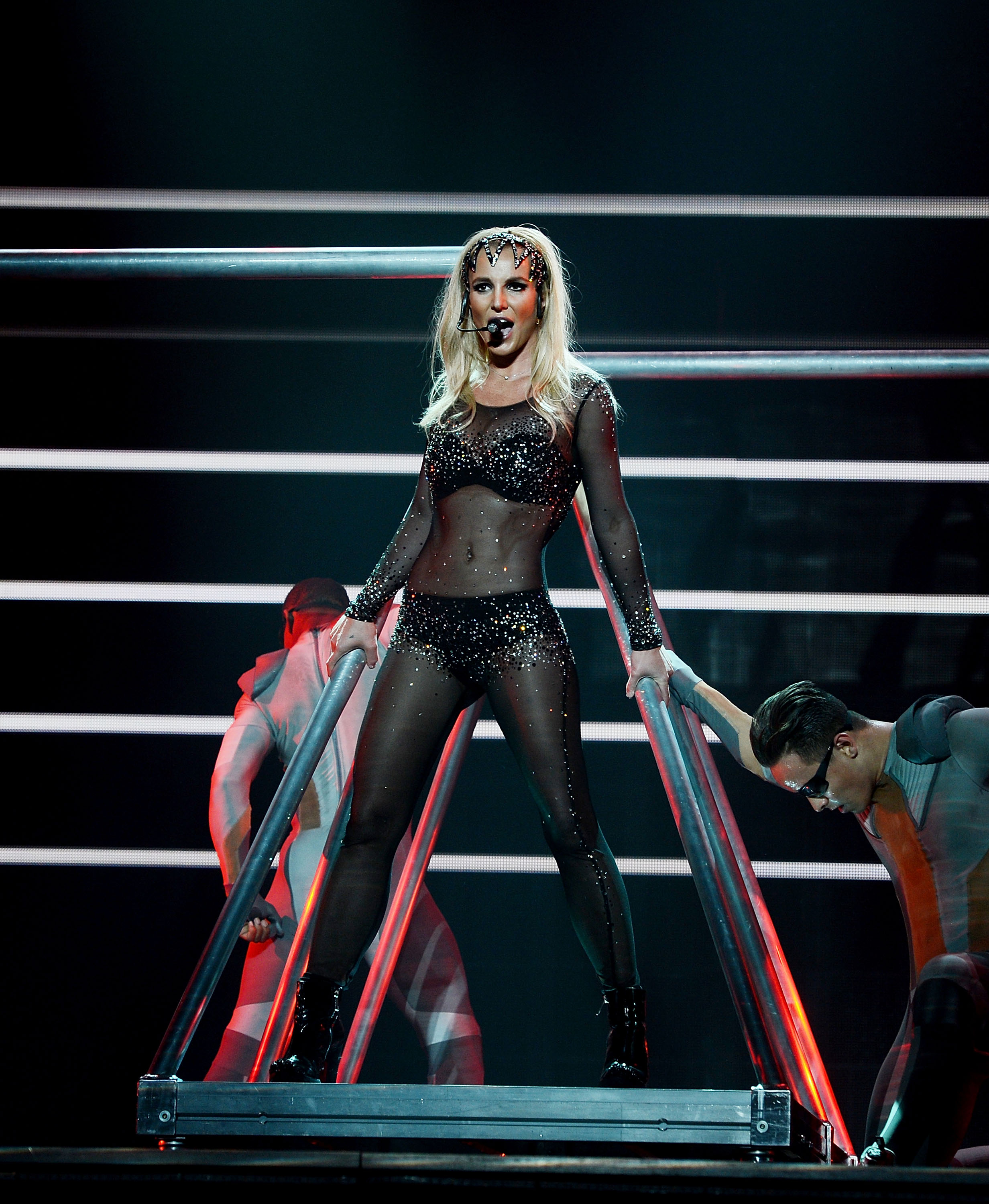 Britney Spears performs at her  Britney: Piece Of Me  show at Planet Hollywood Casino Resort on March 4, 2015 in Las Vegas.
