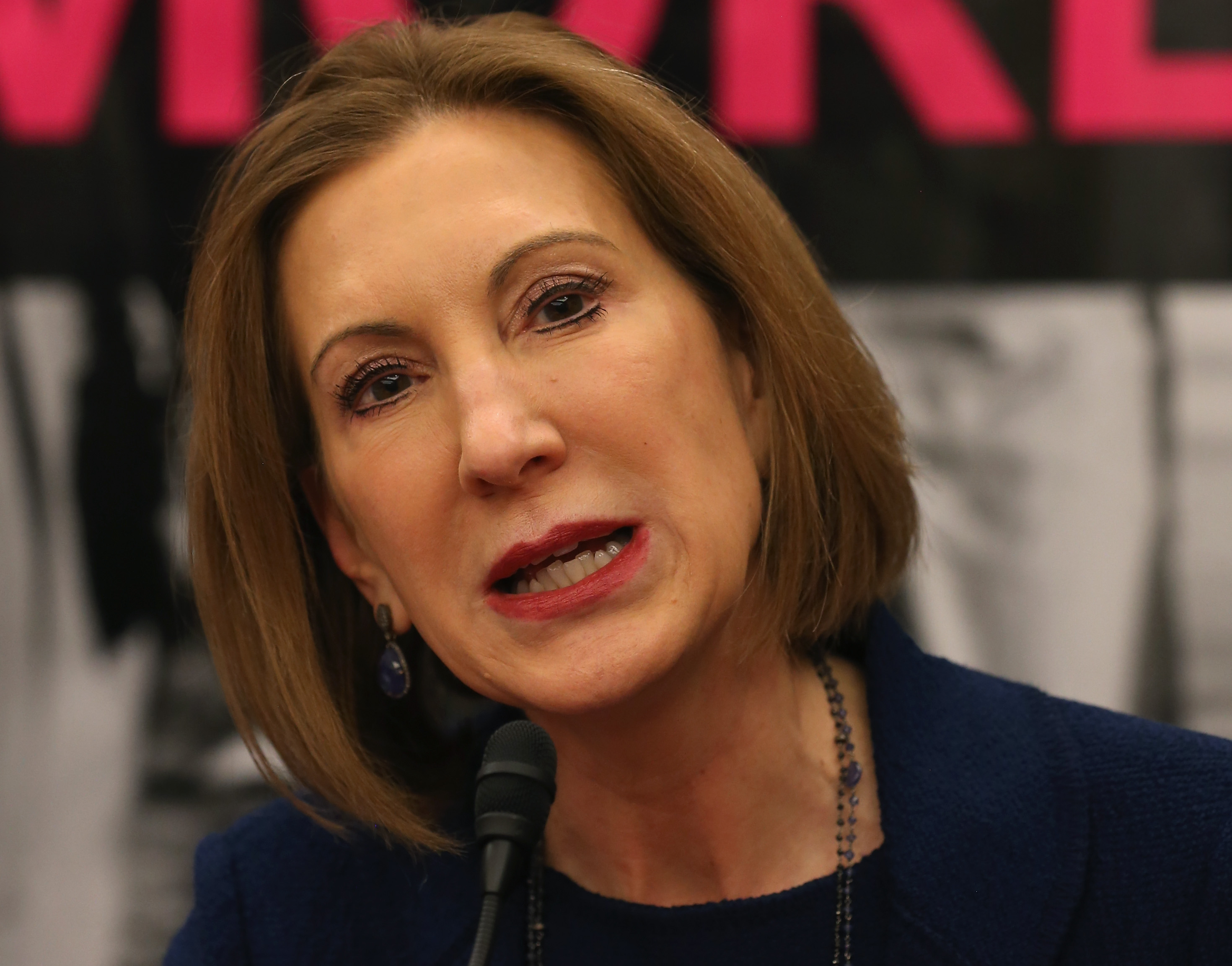 Carly Fiorina speaks during a forum on Capitol Hill March 16, 2015 in Washington, DC.