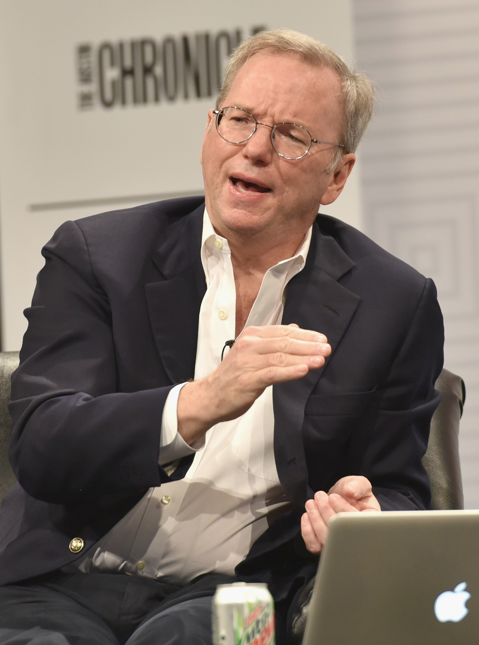 Eric Schmidt, Executive Chairman of Google speaks onstage at 'How Innovation Happens' during the 2015 SXSW Music, Film + Interactive Festival at Austin Convention Center on March 16, 2015 in Austin, Texas.  (Amy E. Price/Getty Images for SXSW)