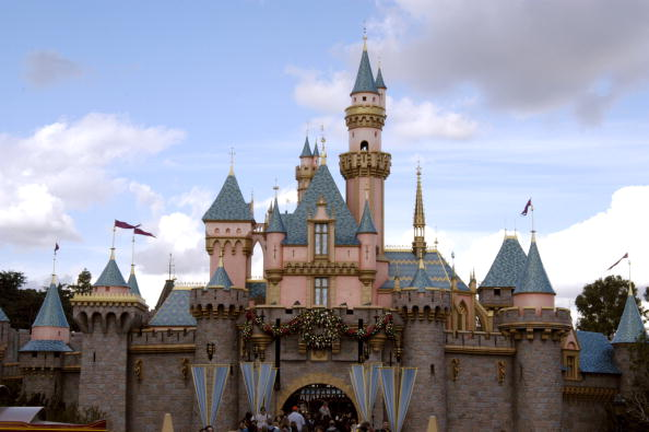 Cinderella's Castle at Disneyland in Anaheim, Calif.