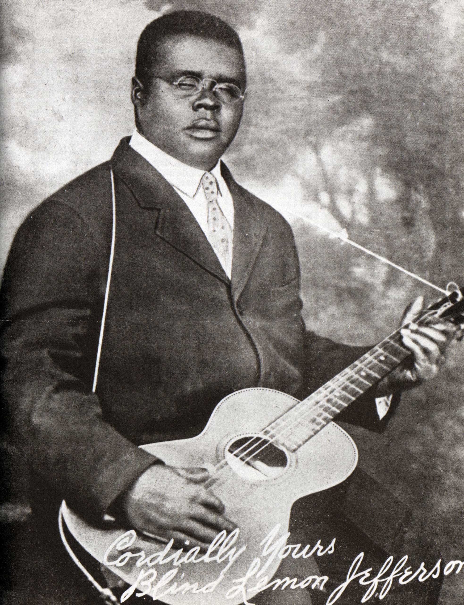 """Blind Lemon Jefferson's rural style of the blues, captured on a 1928 single """"Black Snake Moan"""" / """"Match Box Blues"""" was influential in broadening the genre. (GAB Archive/Redferns/Getty Images)"""