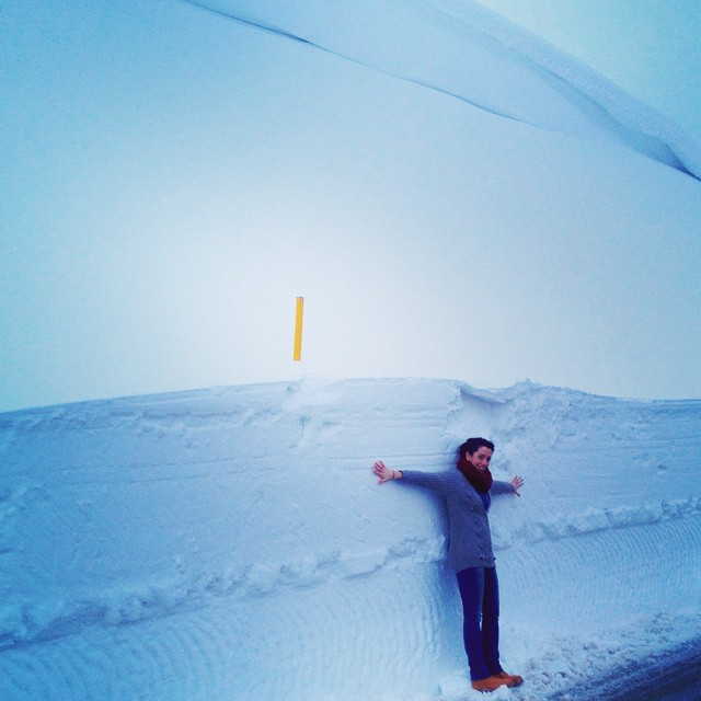Instagram user Elisabetta Carugno posted this photo with the caption,  I'm too much small for this too much snow!! #snow #winter #weatherchannel #WinterGoHome #capracotta #molise #neve #me