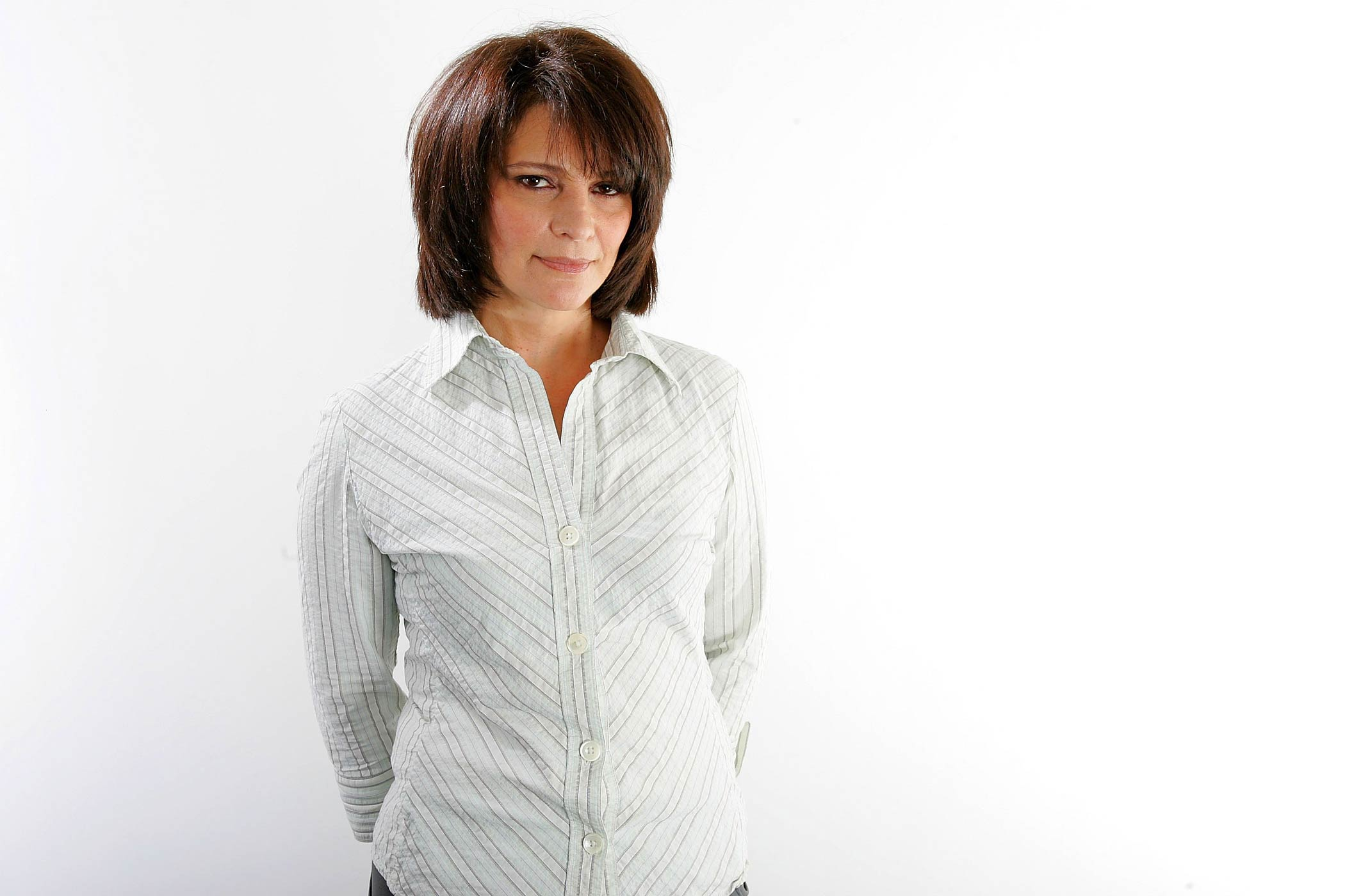 Alberta Watson poses for a portrait in the Chanel Celebrity Suite at the Four Season hotel during the Toronto International Film Festival on Sept. 7, 2006 in Toronto, Canada.