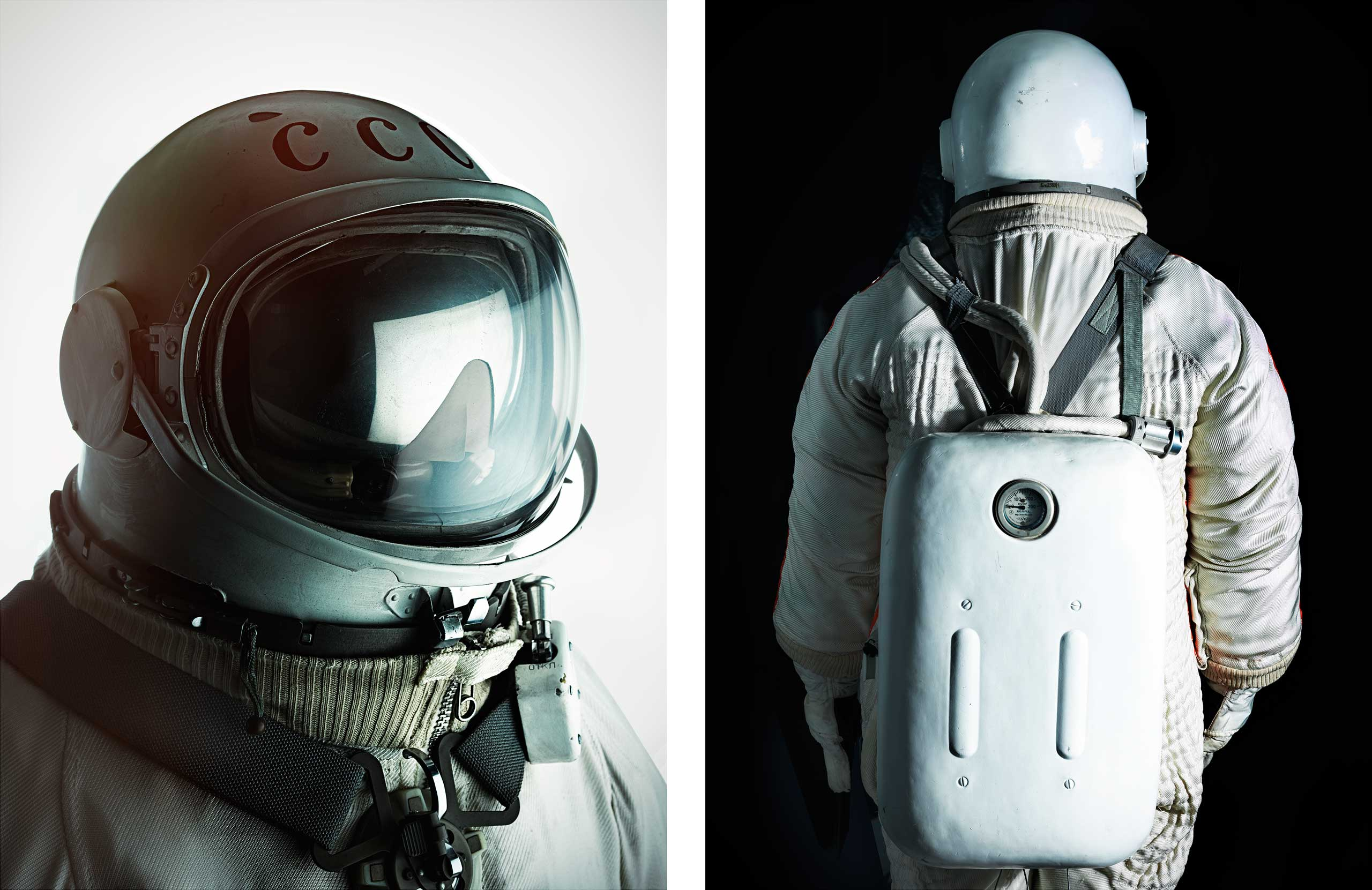 The spacesuit worn by Alexei Leonov on the first-ever spacewalk on March 18, 1965. The suit was photographed at the Memorial Museum of Cosmonautics in Moscow  on March 16, 2015.