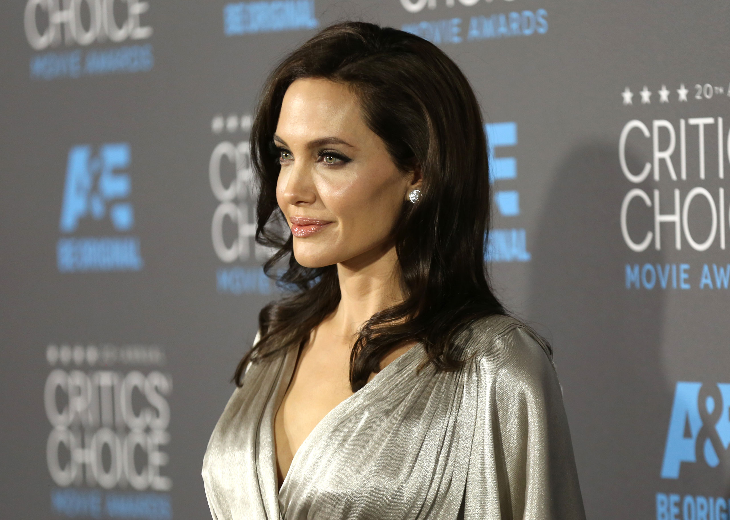 Angelina Jolie arrives at the 20th annual Critics' Choice Movie Awards at the Hollywood Palladium on  Jan. 15, 2015 in Los Angeles.