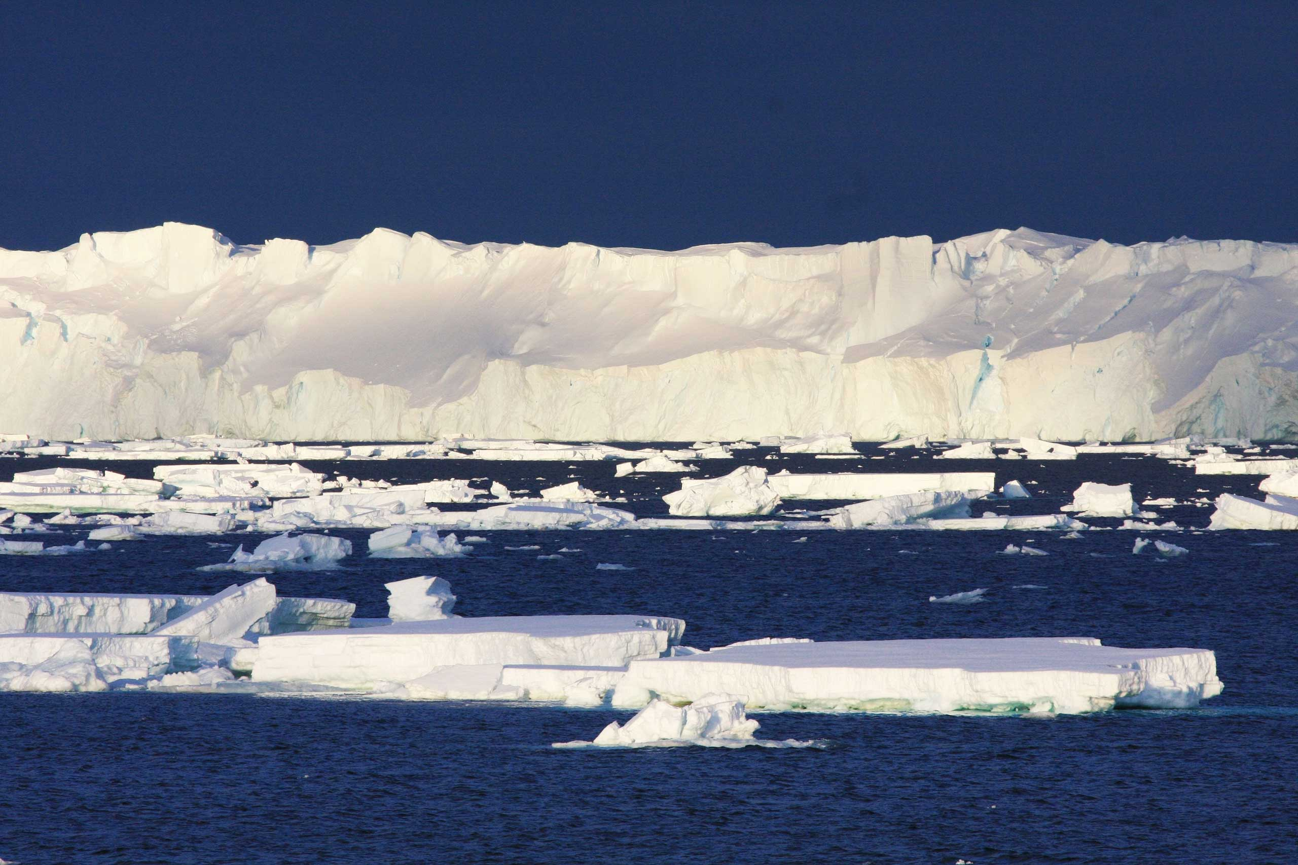 The Totten Glacier, pictured here, is the most rapidly thinning glacier in East Antarctica.