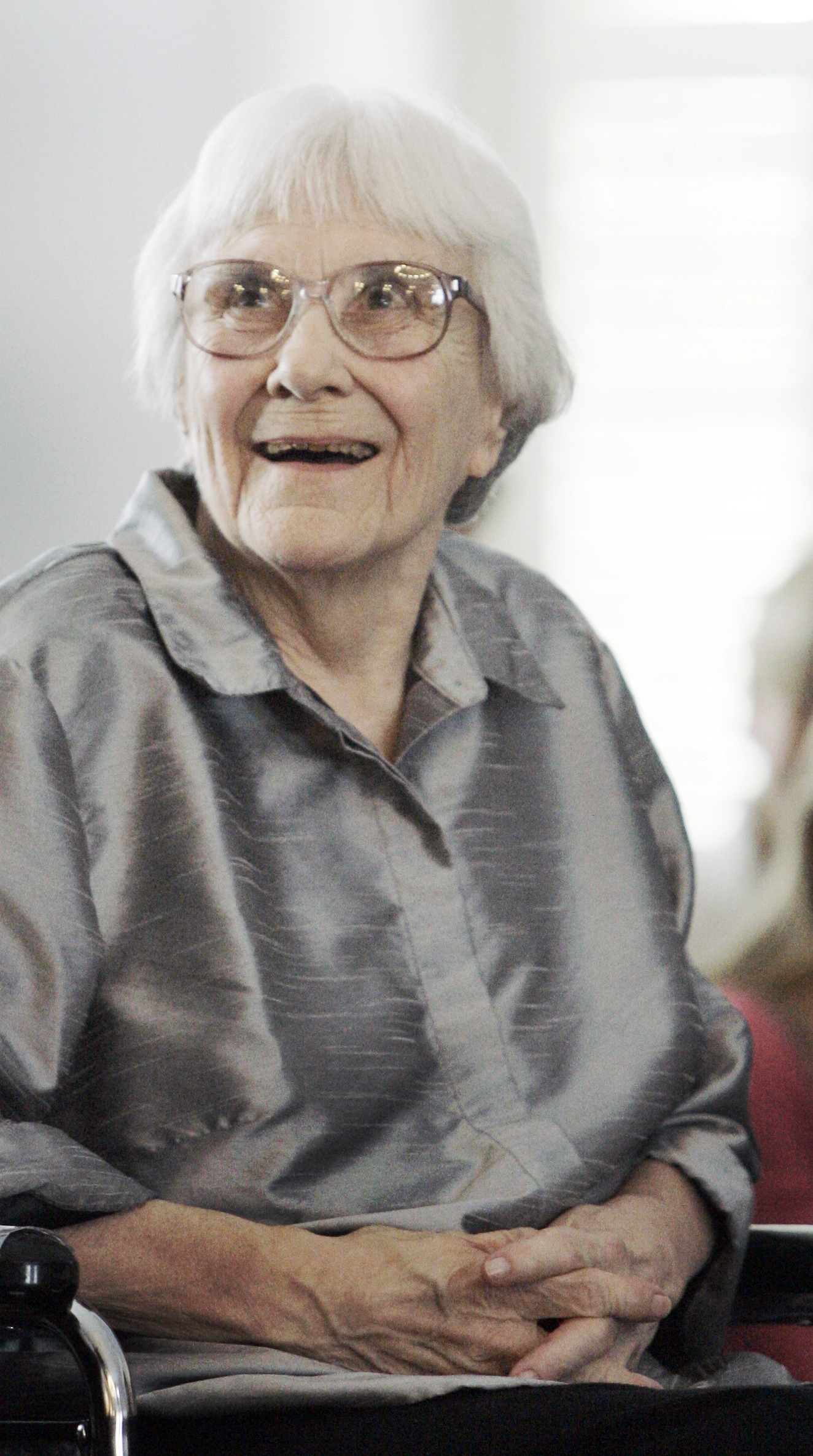 In this Aug. 20, 2007, photo, author Harper Lee appears in Montgomery, Ala.