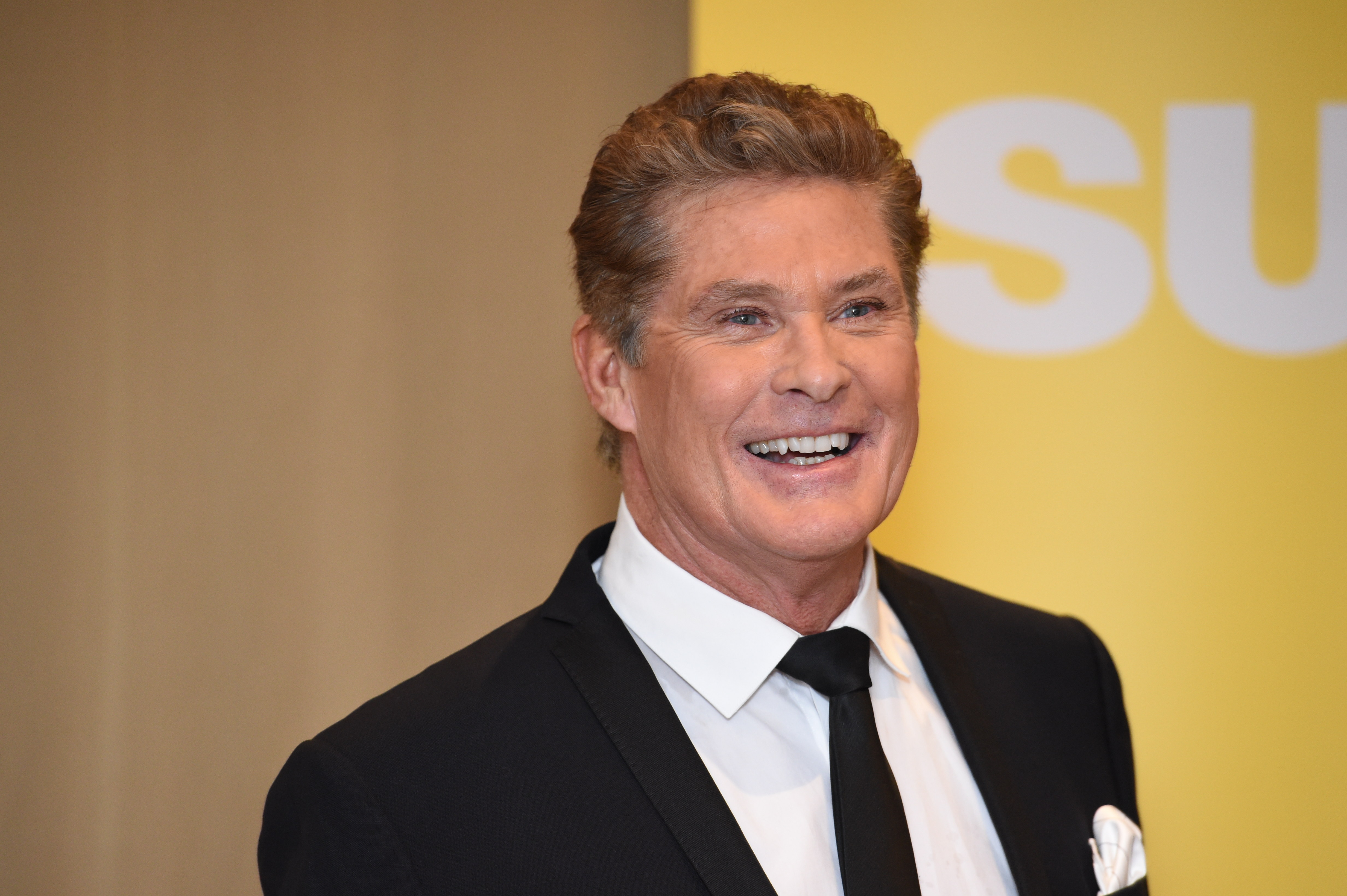 American actor and personality David Hasselhoff during a press conference in Helsinki, Finland on Jan. 16, 2015.