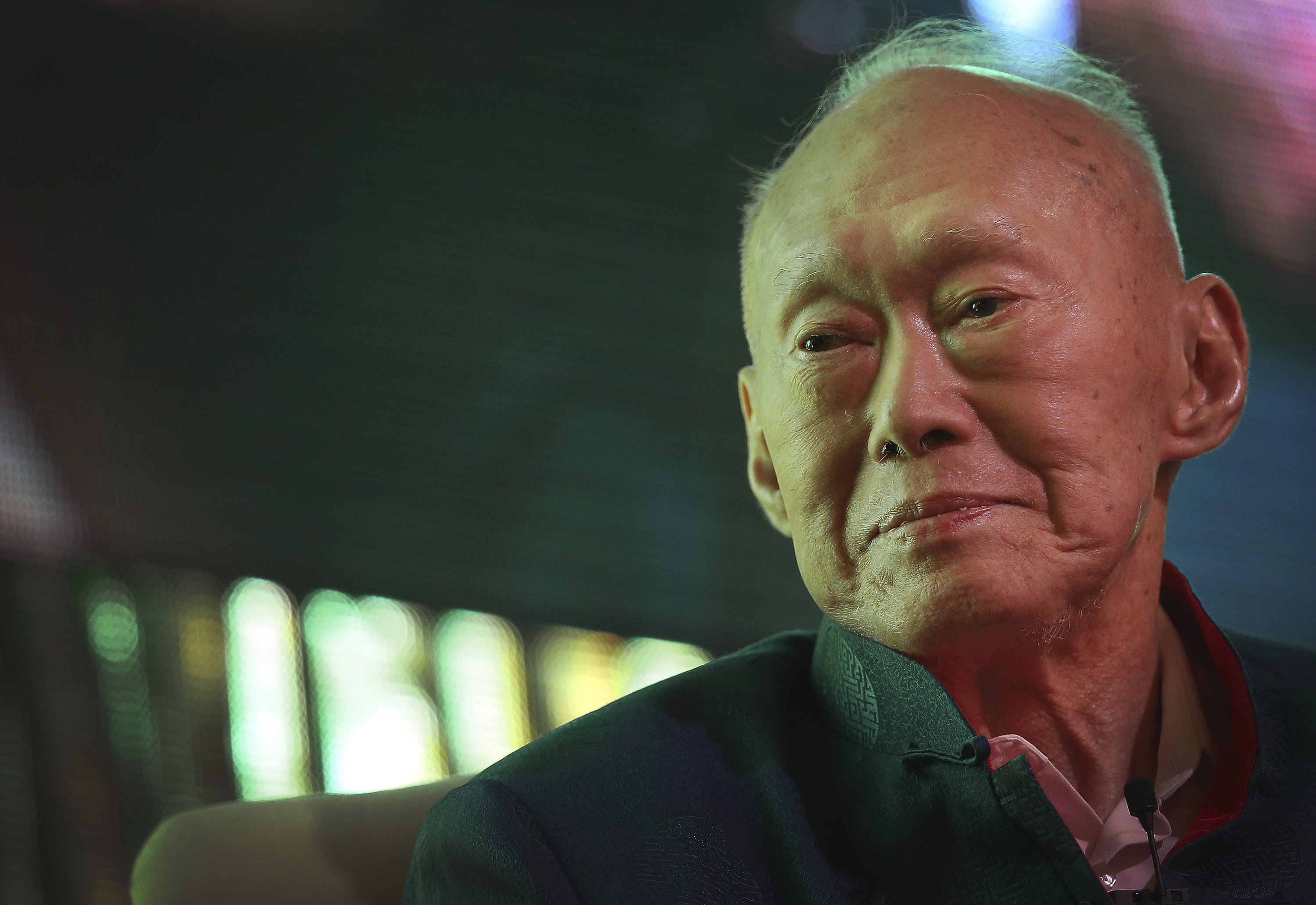 Singapore's former Prime Minister Lee Kuan Yew on March 20, 2013, in Singapore