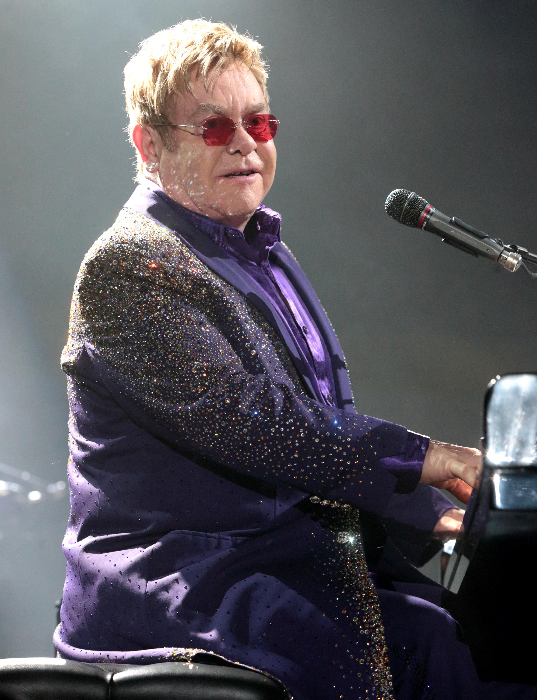 Elton John performs  on Feb. 28, 2015, in Reading, Pa.