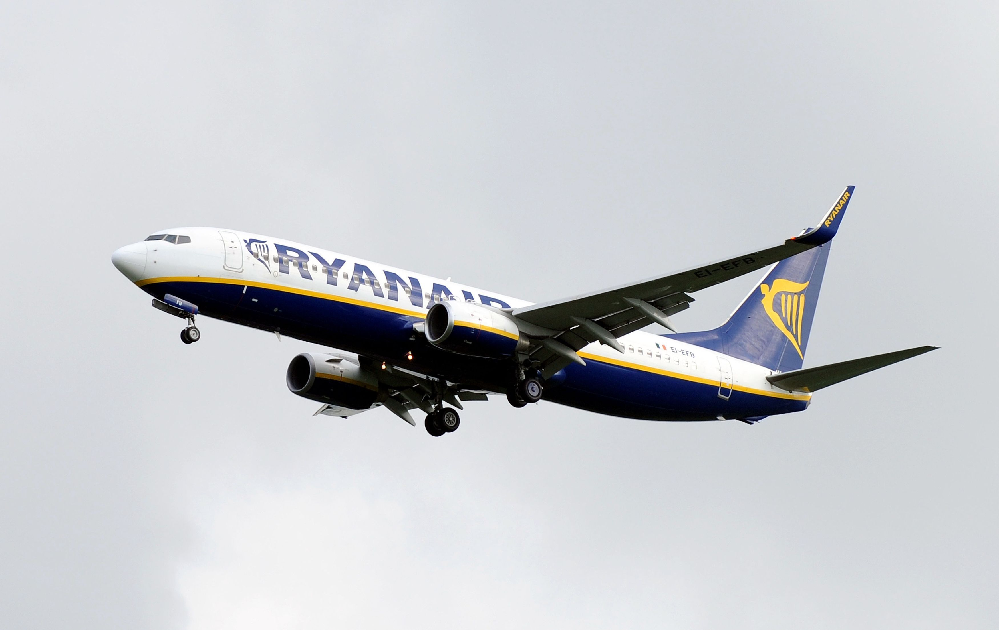 A Ryanair Boeing 737 on May 29, 2014.