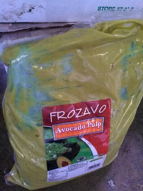 Marijuana was found hidden inside bags of avocado pulp.