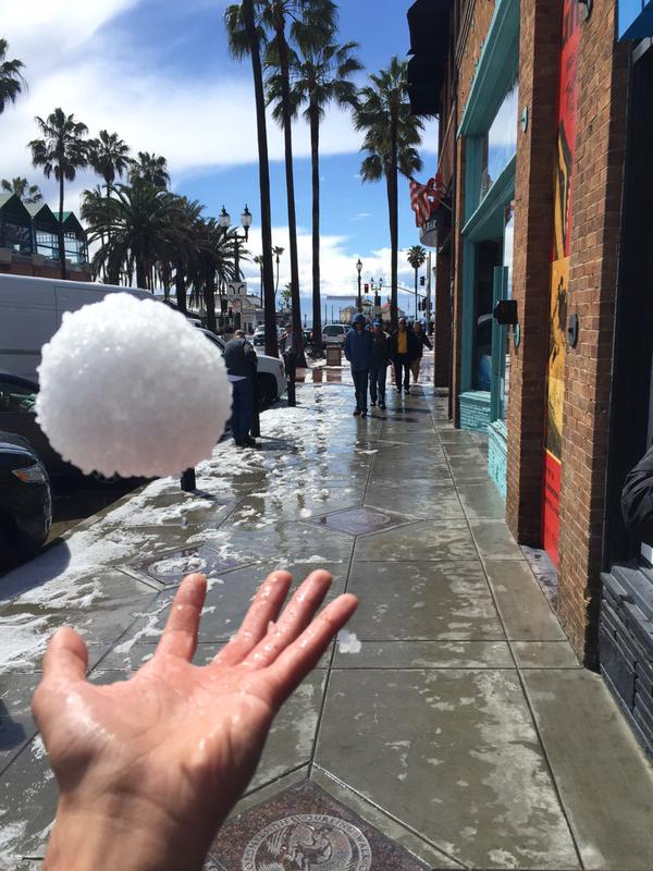 Fouad Rider shared this snowball photo and said,  Not even mad I missed all my classes today.