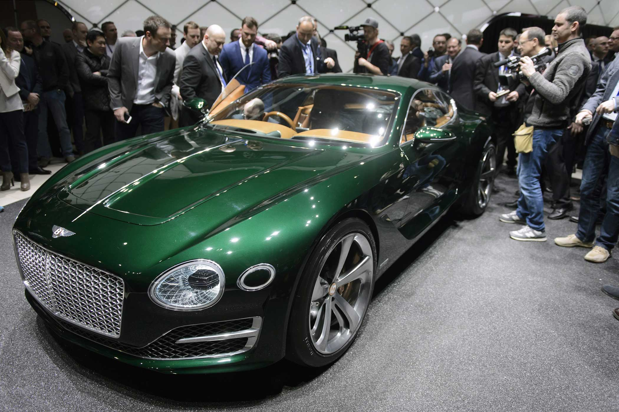 Bentley EXP 10 Speed 6. This concept from the tony British marque hints at the new direction the company's styling will take in the future.