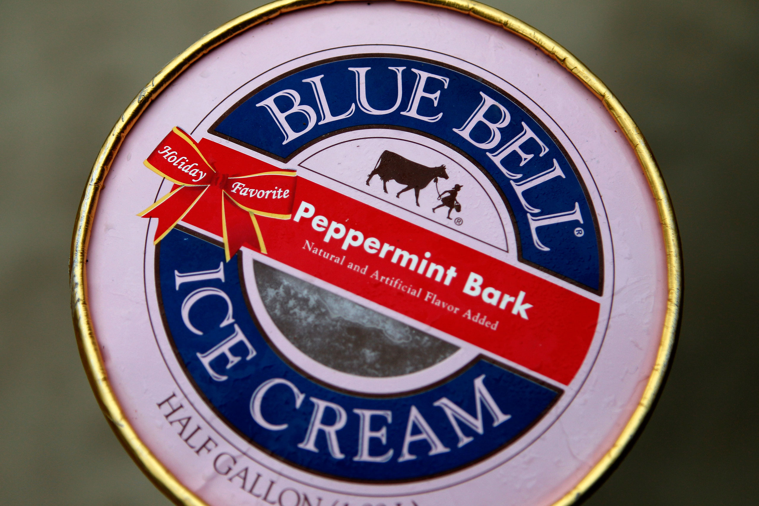 A container of Blue Bell ice cream, March 13, 2015, in Dallas.