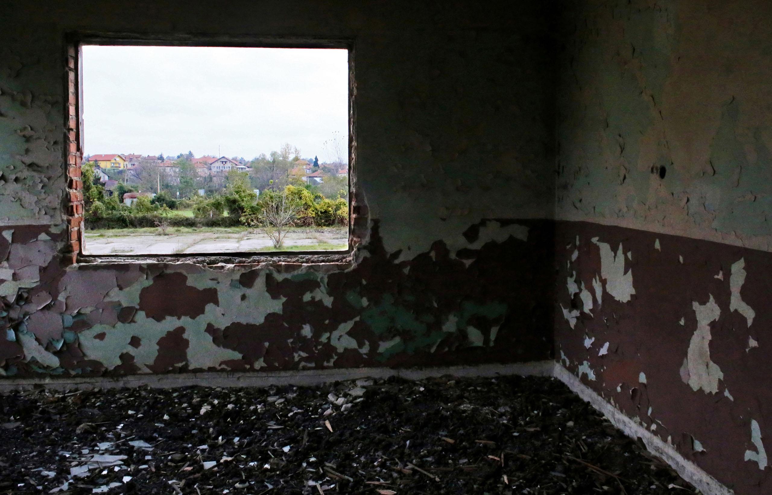 A window of an abandoned school in Dunavtsi, Bulgaria, Oct. 27, 2014.