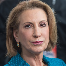Carly Fiorina, former CEO of Hewlett-Packard and chairman of the American Conservative Union Foundation, waits to be interviewed at the annual  Conservative Political Action Conference (CPAC) at National Harbor, Md. on Feb. 26, 2015.