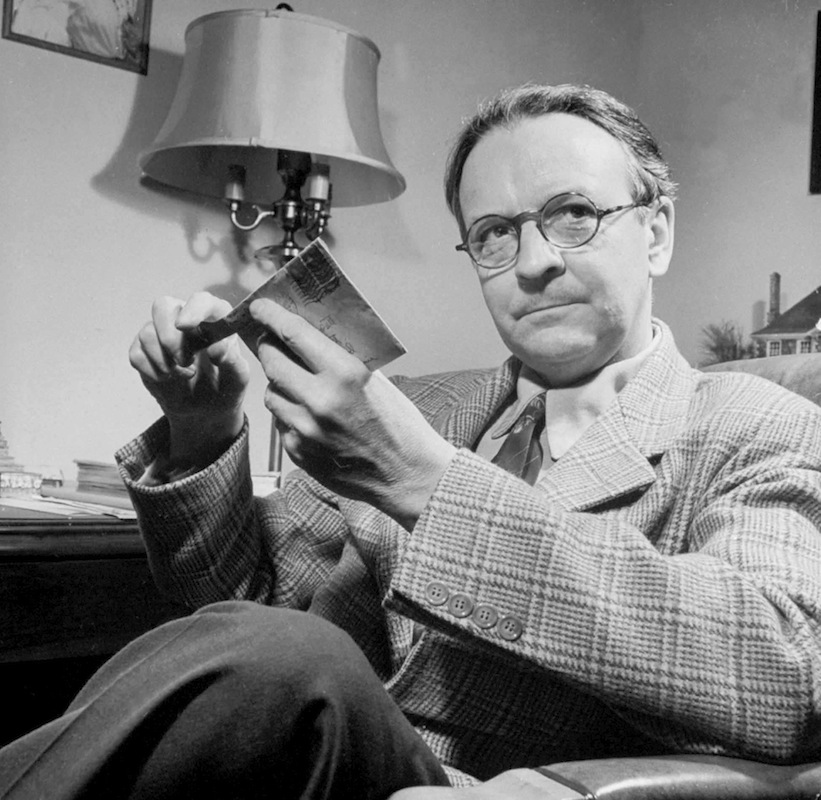 The writer Raymond Chandler, in 1943