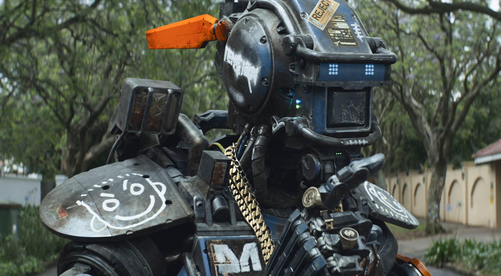 Sharlto Copley plays the voice of Chappie in Chappie