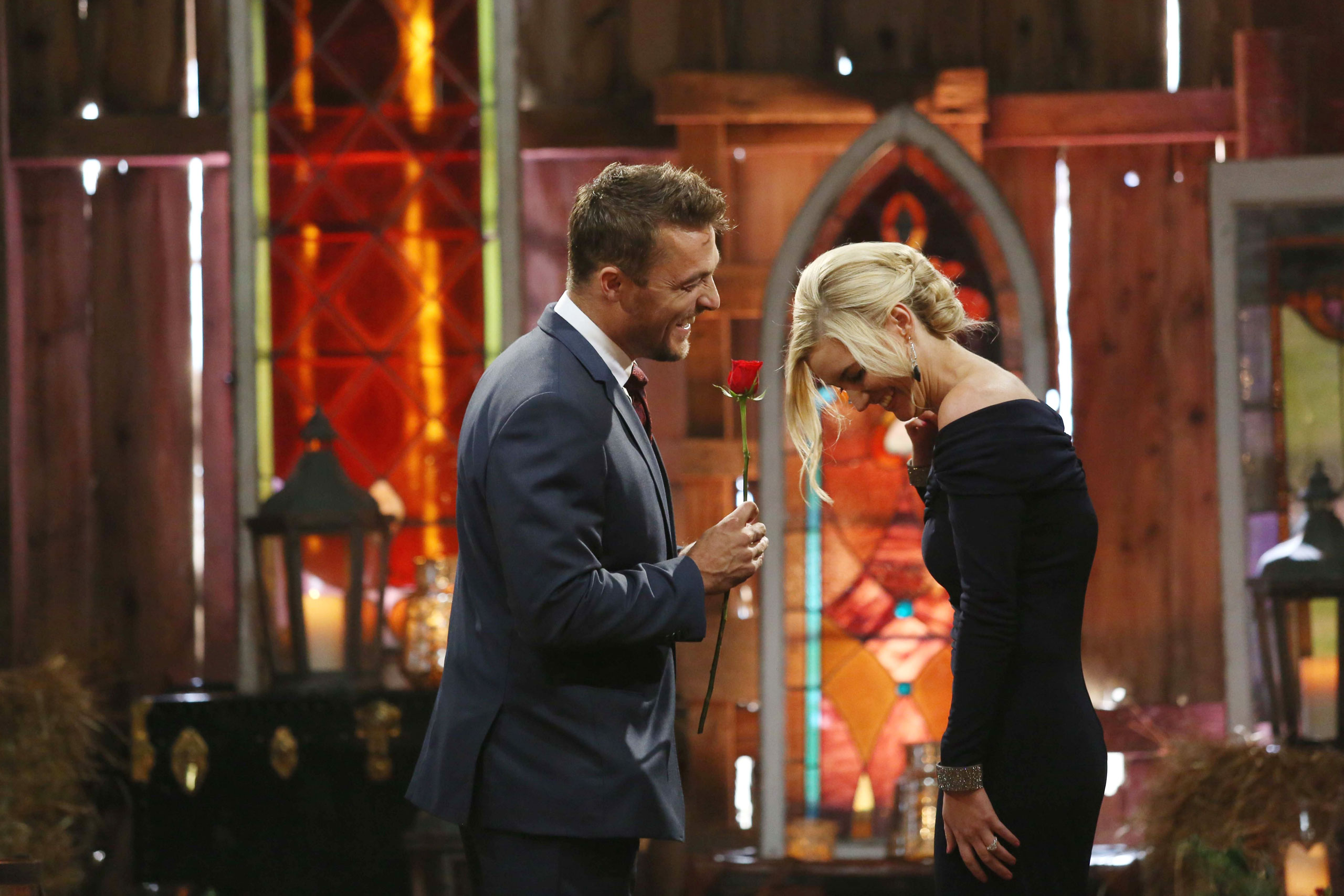 Chris Soules proposes to Whitney Bischoff on the Season Finale of  The Bachelor,  on March 9, 2015.