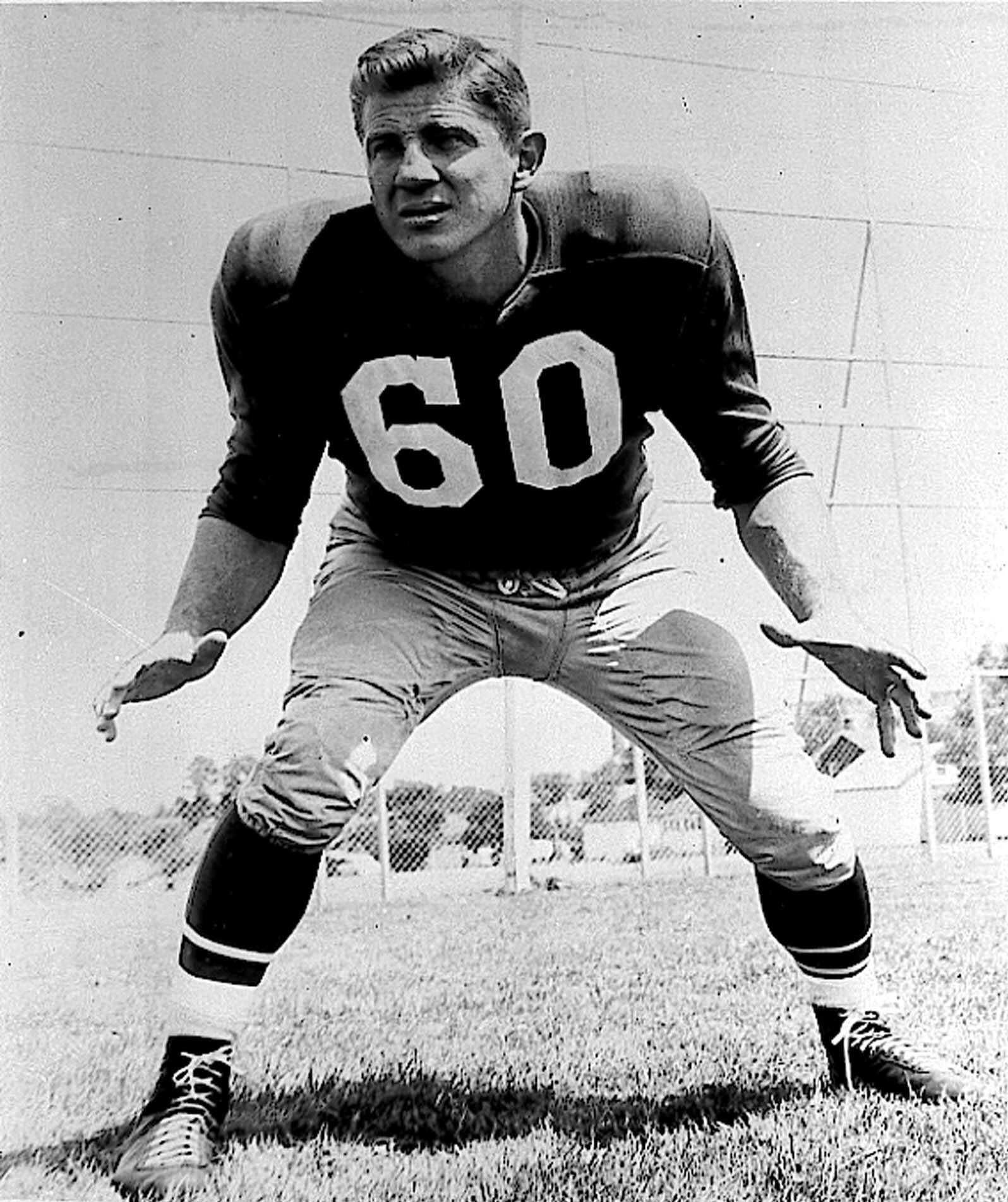 Chuck Bednarik, of the Philadelphia Eagles.