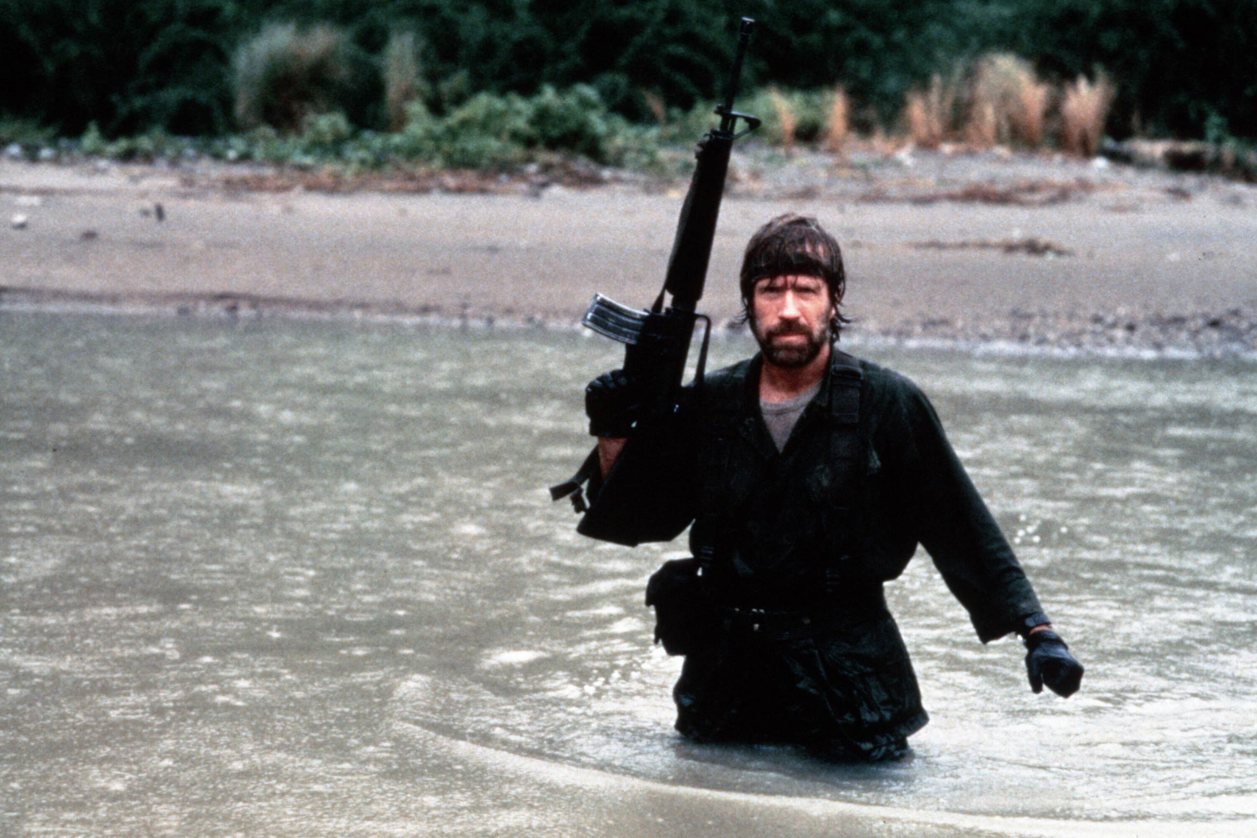 Chuck Norris as Col. James Braddock in Missing in Action, 1984.