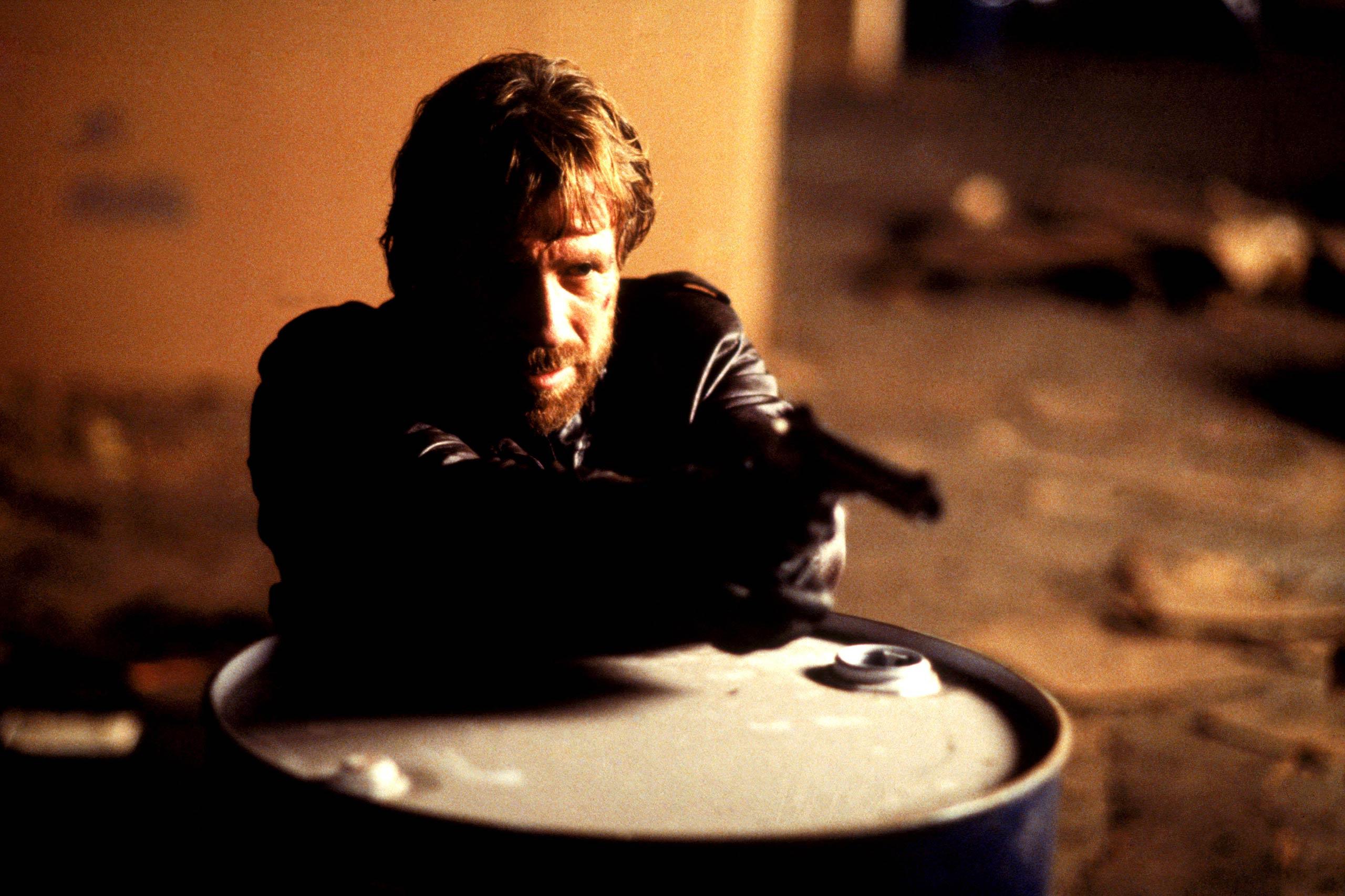 Chuck Norris as Eddie Cusack in Code of Silence, 1985.