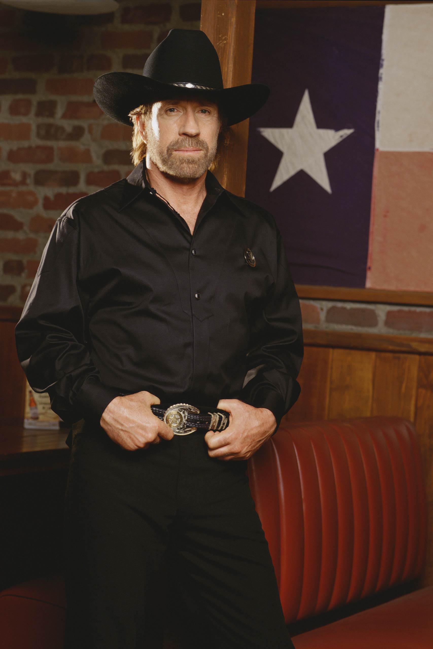 "Chuck Norris as Cordell ""Cord"" Walker in Walker, Texas Ranger, 1997."